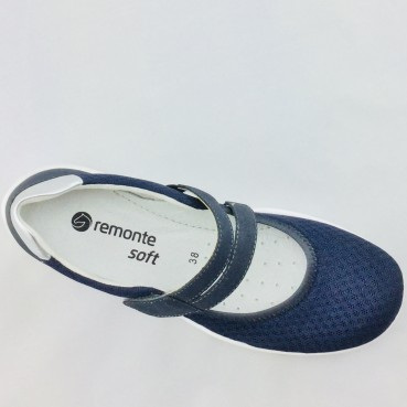 Remonte R3505-14 Damen Slipper in blau.