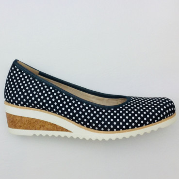 Remonte D5500-15 Damen Slipper in navy/weiß/pazifik.