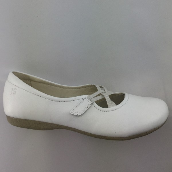 Josef Seibel Fiona 39 Damen Slipper in weiss, Leder.