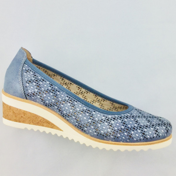 Remonte D5505-12 Damen Slipper in adria/si.